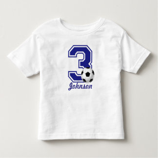 3rd Birthday boy soccer,football personalized Toddler T-shirt
