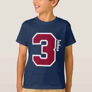 3rd Birthday Boy Three Year Custom Name V01B T-Shirt