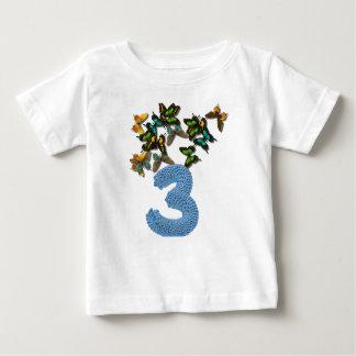 3rd birthday butterflies baby T-Shirt