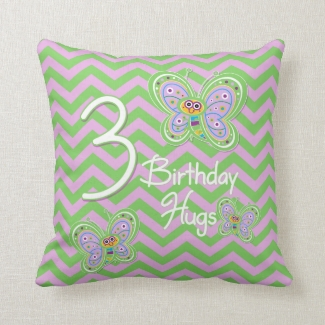 3rd Birthday Butterfly Hugs