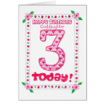 3rd Birthday Card for a Goddaughter
