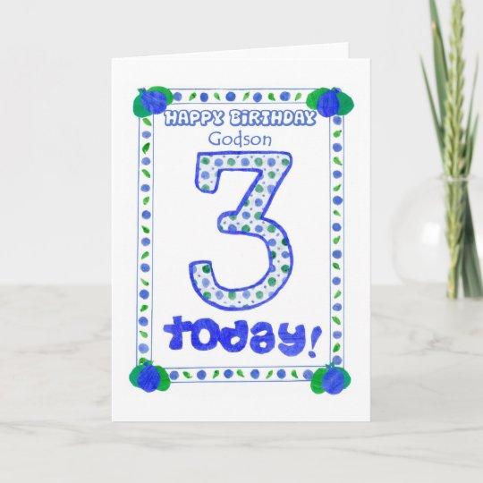 3rd Birthday Card For A Godson