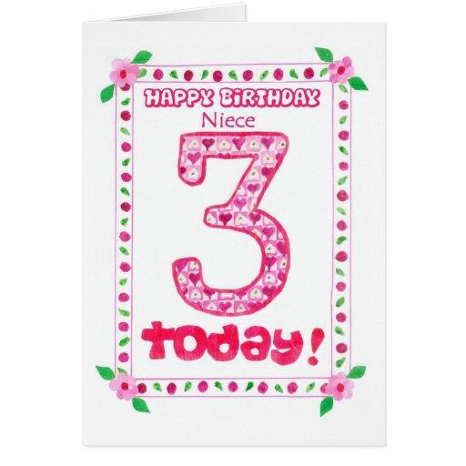3rd Birthday Card For A Niece
