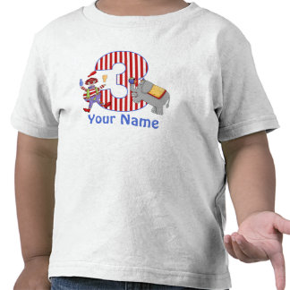 3rd Birthday Circus Personalized T-shirt