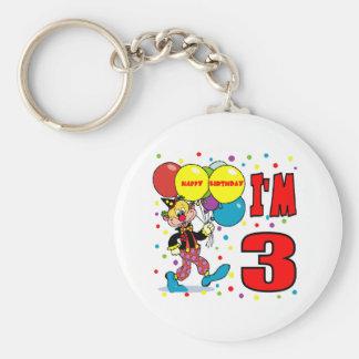 3rd Birthday Clown Birthday Basic Round Button Keychain