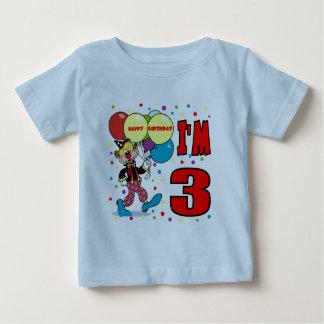 3rd Birthday Clown Birthday Tee Shirt