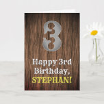 [ Thumbnail: 3rd Birthday: Country Western Inspired Look, Name Card ]