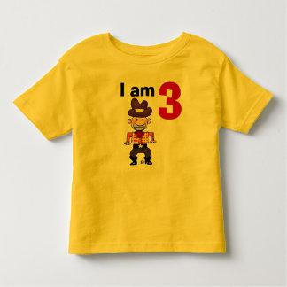 3rd birthday cowboy gift toddler t-shirt