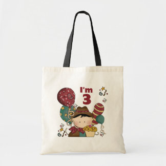 3rd Birthday Cowboy T-shirts and Gifts Canvas Bag