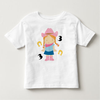 3rd Birthday Cowgirl Toddler T-shirt