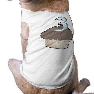 3rd Birthday Cupcake Dog Shirt