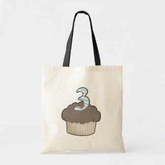 3rd Birthday Cupcake Tote Bags