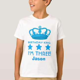 3rd Birthday Custom Name Crown and Stars V20E T-Shirt