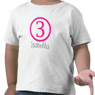 3rd Birthday Customizable T-Shirt Girl