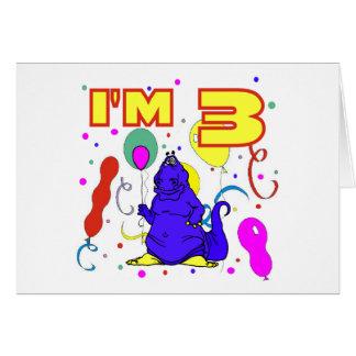 3rd Birthday Dinosaur Birthday Card