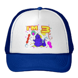 3rd Birthday Dinosaur Birthday Trucker Hat