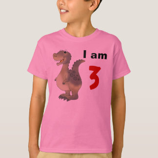 3rd birthday dinosaur gift idea T-Shirt