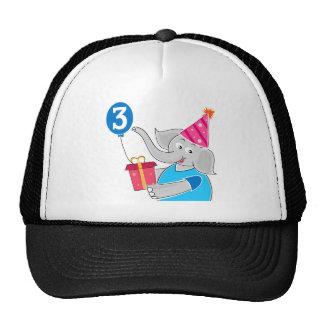 3rd Birthday Elephant Trucker Hat