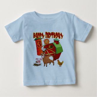 3rd Birthday Farm Birthday Baby T-Shirt