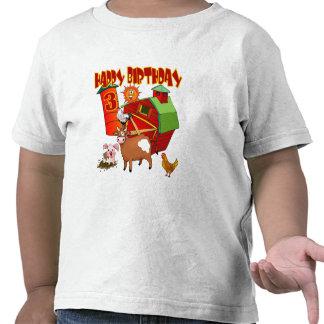 3rd Birthday Farm Birthday Tee Shirt