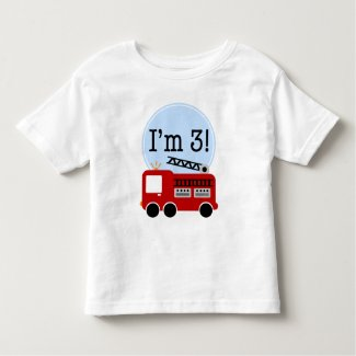 3rd Birthday Fire Truck Shirts