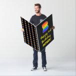 [ Thumbnail: 3rd Birthday: Fun, Colorful, Happy, Rainbow # 3 Card ]