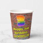 [ Thumbnail: 3rd Birthday: Fun Graffiti-Inspired Rainbow 3 ]