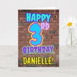 [ Thumbnail: 3rd Birthday - Fun, Urban Graffiti Inspired Look Card ]