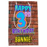[ Thumbnail: 3rd Birthday: Fun, Urban Graffiti Inspired Look Gift Bag ]