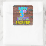 [ Thumbnail: 3rd Birthday – Fun, Urban Graffiti Inspired Look Sticker ]