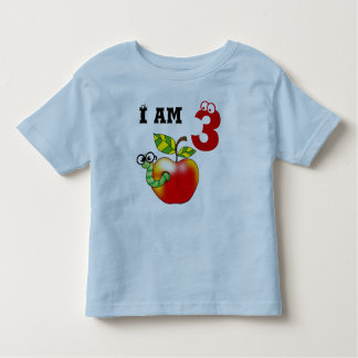 3rd birthday gift (apple worm) toddler t-shirt