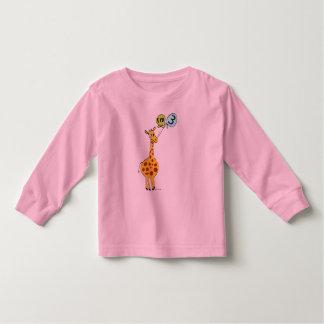 3rd Birthday Giraffe and Balloons T-shirt