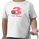3rd Birthday Girl Owl Personalized T Shirt