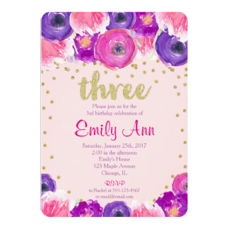 3rd birthday invitations & announcements | zazzle, Birthday invitations