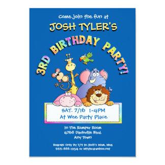 3rd Birthday Party Add a Photo Animal Invitations