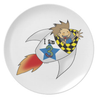 3rd birthday party plates