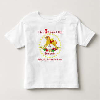 3rd Birthday Party Rocking Horse Toddler T-shirt