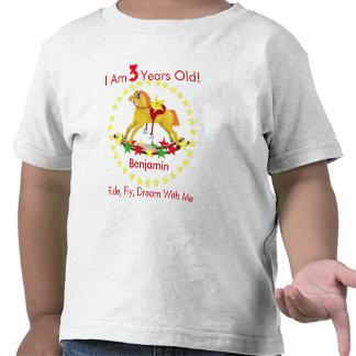 3rd Birthday Party Rocking Horse Shirt