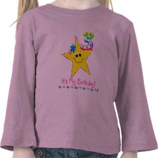 3rd Birthday Party Shirt Smiley Stars