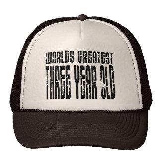 3rd Birthday Party Worlds Greatest Three Year Old Trucker Hat