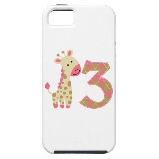 3rd Birthday Pink Giraffe iPhone 5 Cover