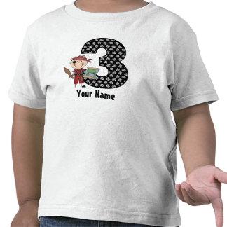 3rd Birthday Pirate Personalized Shirt