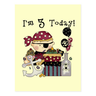 3rd Birthday Pirate Tshirts and Gifts Postcard