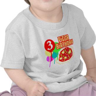 3rd Birthday Pizza Birthday Tee Shirts
