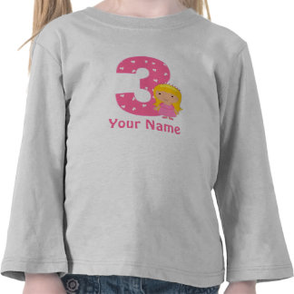 3rd Birthday Princess Personalized T-shirt