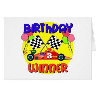 3rd Birthday Race Car Birthday Card