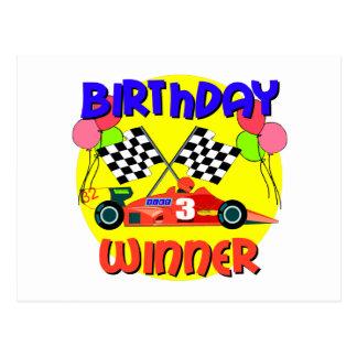 3rd Birthday Race Car Birthday Postcard