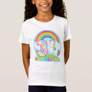 3rd Birthday Rainbow Unicorn - Birthday Girl T-Shirt