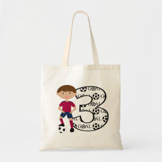 3rd Birthday Red and Blue Soccer Goal Bag