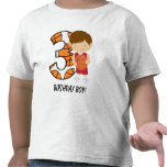 3rd Birthday Red and White Basketball Player Tee Shirts